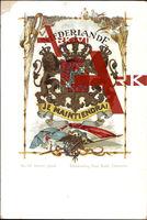 Wappen Niederlande, Löwen, Krone, Vögel