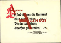 Gedicht Es sind immer die Hammel...Friesen Verlag