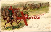 Soldaten Gruß, Schweizer Kavalleriesoldaten