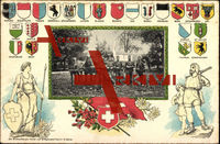 Wappen Kantone Schweiz, Trupp von Sanitätssoldaten