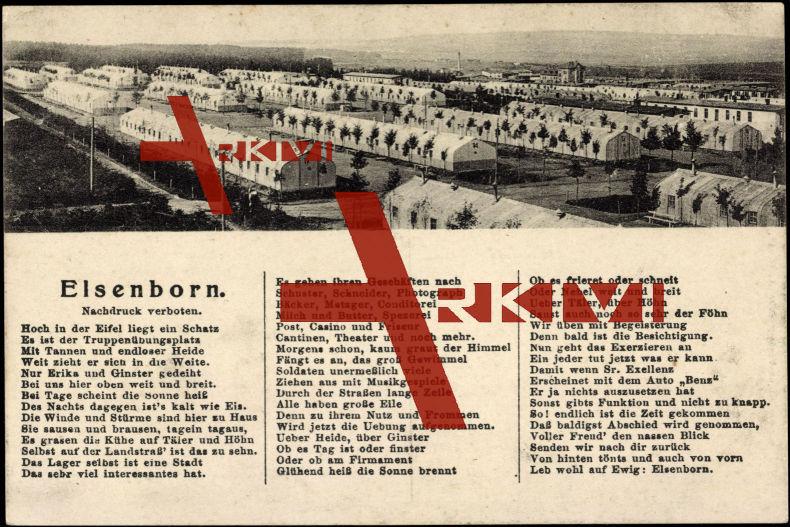 Gedicht Elsenborn Lüttich, Truppenübungsplatz,Schatz