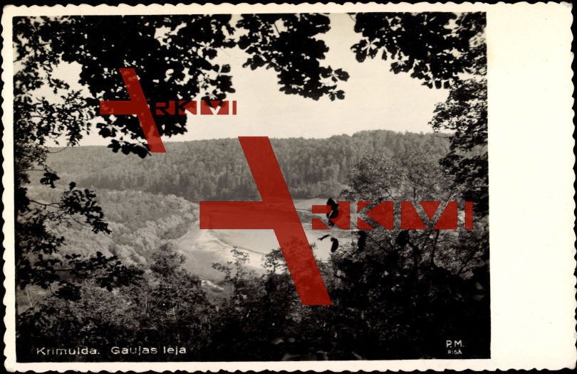 Krimulda Lettland, Gaujas Leja, Fernblick, Wald