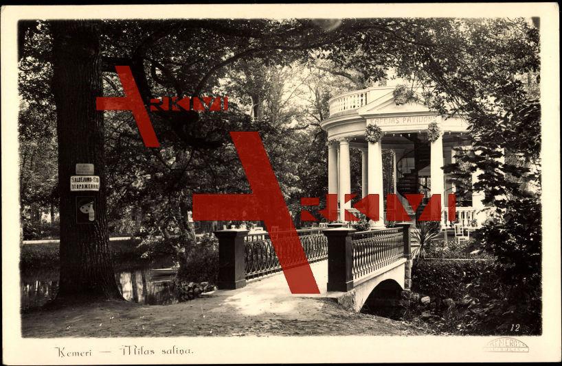 Kemeri Lettland, Milas salina, Pavillon, Bridge