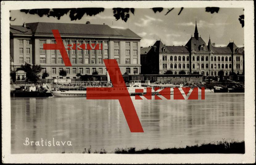 Foto Ak Bratislava Slowakei, Dampfer Sophie auf Donau