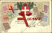 Briefmarken Italien, Wappen, Flaggen, 10 Cent, Lire