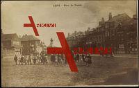 Lens Aisne, Place du Cantin, Maisons