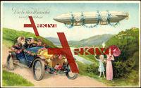 Glückwunsch Geburtstag, Zeppelin, Autofahrt