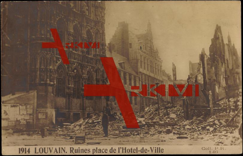 Louvain Flämisch Brabant, Ruines,Hotel de Ville