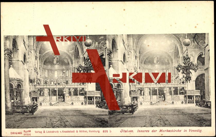Venedig Veneto, Inneres der Markus Kirche