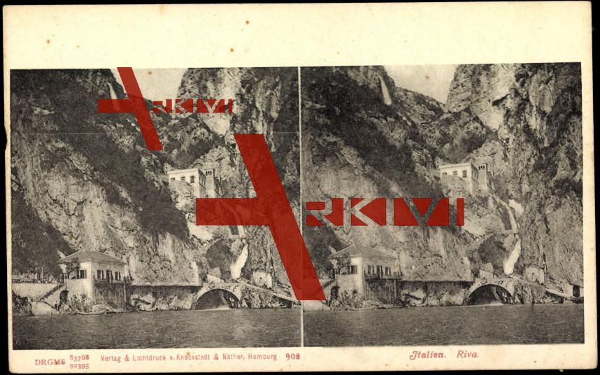 Riva Italien, Blick auf den Ort, Häuser, Fels