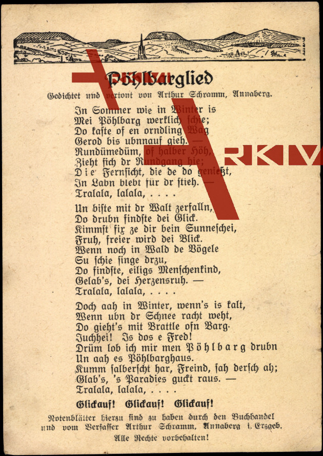 Liedkarten  Arthur Schramm, Pöhlbarglied