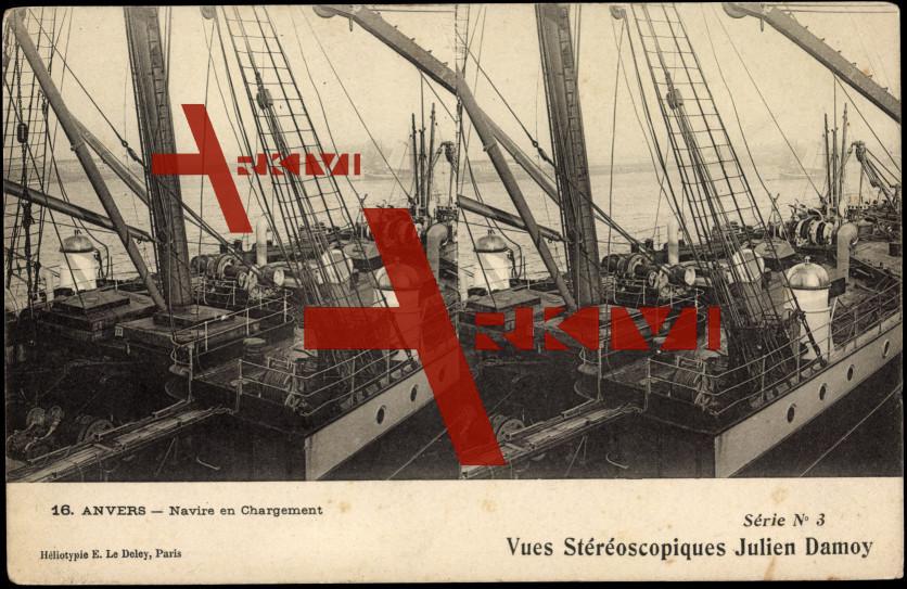 Antwerpen Flandern, Navire en Chargement
