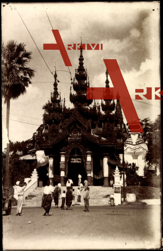 Rangoon Myanmar, Entrance to a Temple, 1903