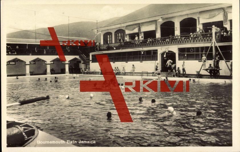 Jamaica, Bournemouth Bath, Badegäste, Gebirge
