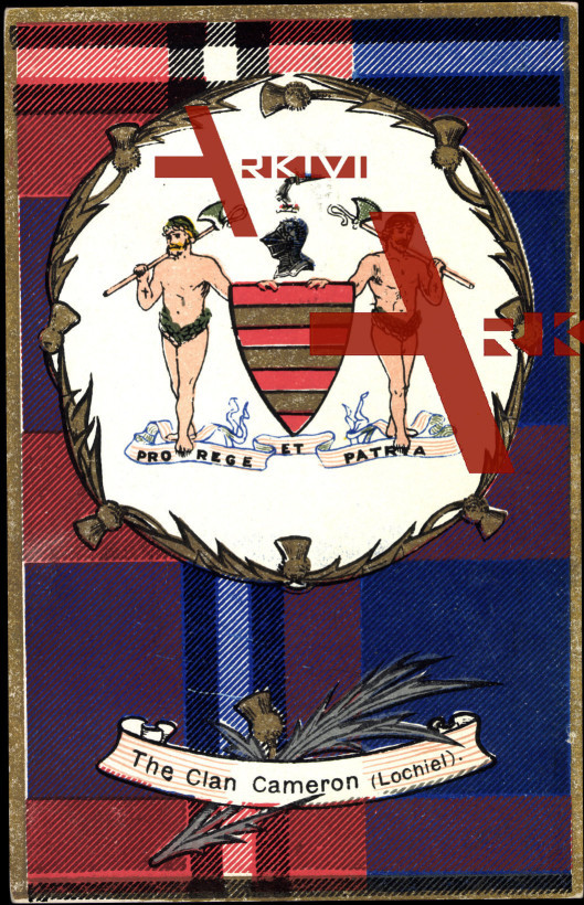 Wappen The Clan Cameron, Lochiel, Pro Rege et Patria