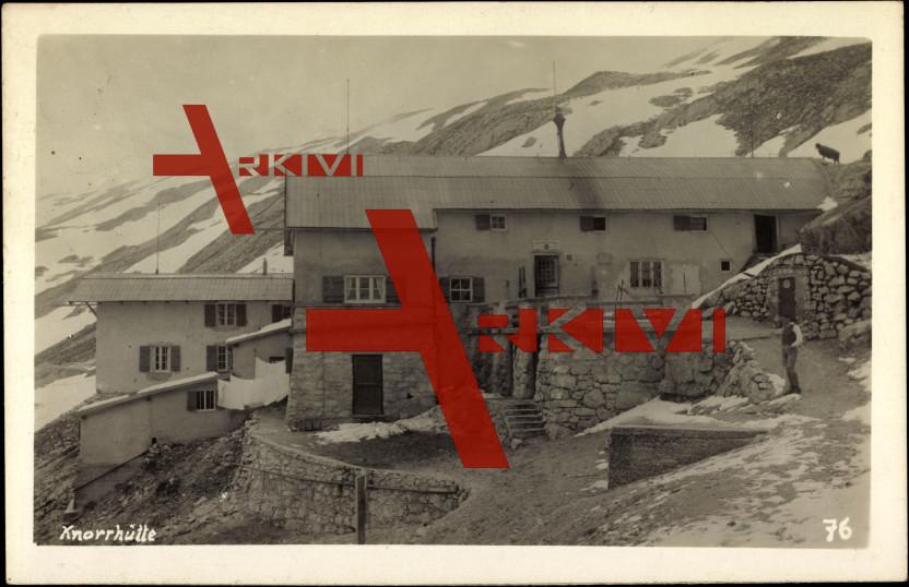 Garmisch Partenkirchen,Blick auf die Knorrhütte
