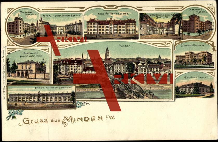 Minden, Kaserne Artillerie, Simeonsplatz