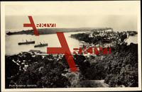 Port Antonio Jamaika,Hafenblick aus Höhe,Insel