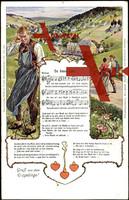 Liedkarten Vogel Wilhelm, De biese Lieb, Walzer