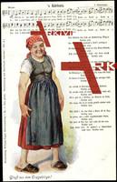 Liedkarten H. Mückenberger, W. Vogel, s' Bärbele