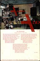 Liedkarten Edelweiss u. Sinn., Am Webstuhl