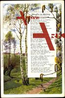 Gedicht B. Brückner, Pfingst'n im Gebärg., W.Vogel
