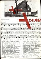 Liedkarten Luise Bine, Hammweh, Haus mit Garten