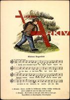 Liedkarten F.E. Krauss, C. Lahusen, kleines Regen...