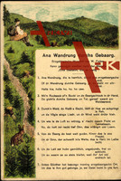 Lied Ficker W., Ana Wandrung durchs Gebaarg,Wanderer