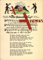 Lied Rudert W., Der schännste Weg, Wanderer