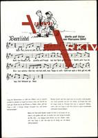 Lied Hütel M., Beerliedel, Junge und Mädchen