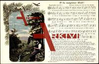 Lied Peuschel O., O du maigriener Wald, Mann, Pfeife