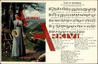 Lied Mückenberger H., Drum an Auerschbarg, Frau