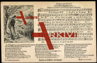 Lied Soph H., 'S Friehgahr, Mann beim Wandern,Pfeife