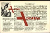 Lied Soph H., Nr. 5, Der Rutschwanz, Vogel, Häuser