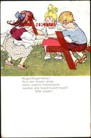Lied Ringel Ringel Reihe, Kinder beim Spiel im Kreis