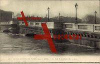 Paris, Crue de la Seine, Pont de la Concorde, 1910