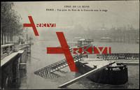 Paris, Inondations 1910, Pont de la Concorde, Neige