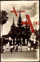 Rangoon Myanmar, Entrance to a Temple, 1903