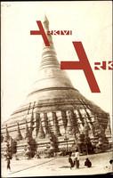 Rangoon Myanmar, View of the Schwedagon Pagoda