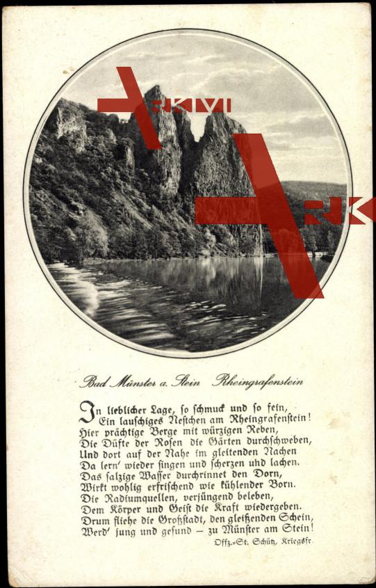 Gedicht Bad Münster Ebernburg, Rheingrafenstein