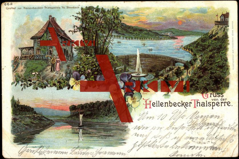 Ennepetal, Heilenbecker Talsperre, Fontäne, Boot