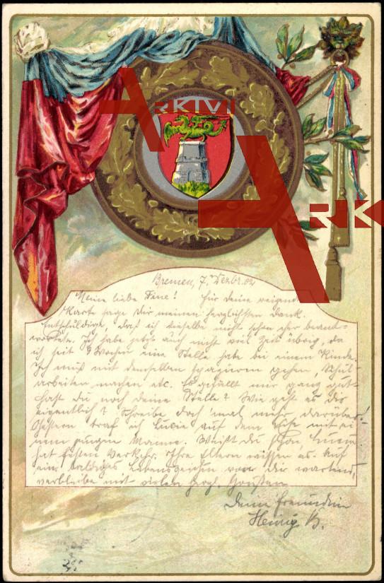Wappen Drache auf einem weißen Turm, Fahne
