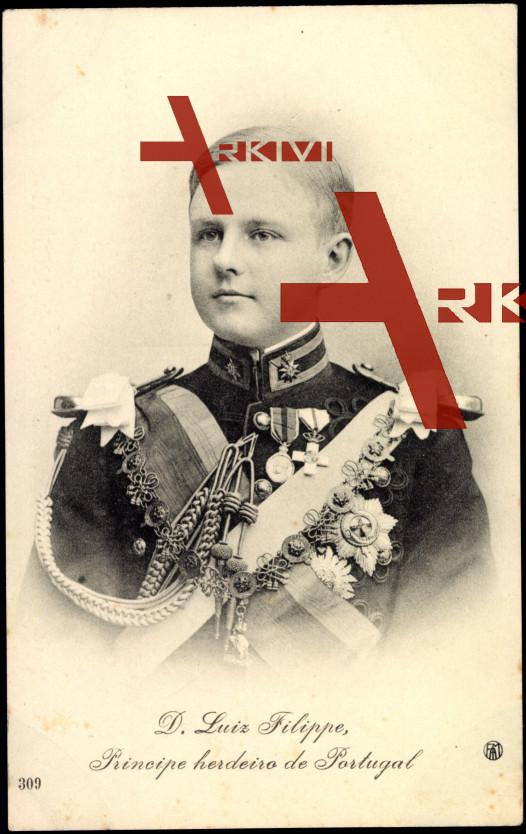 D. Luiz Filippe, Principe herdeiro de Portugal
