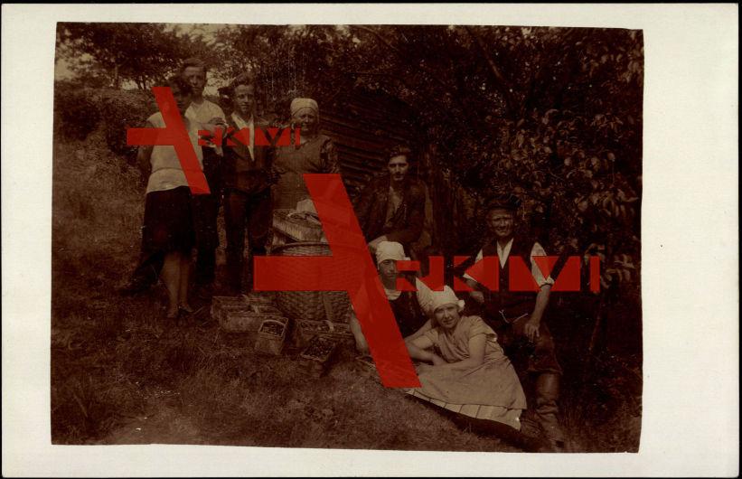 Familie Kirsten, Landwirtschaft, Sammler, Körbe
