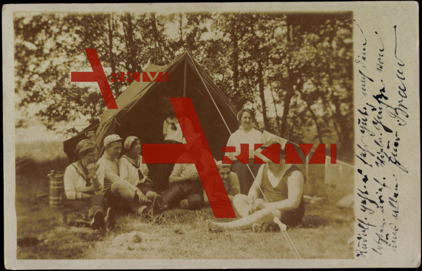 Wanderer, Zelten, Badekleidung, Camping