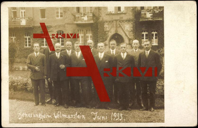 Wetter, Genesungsheim, Gruppenfoto, Juni 1933