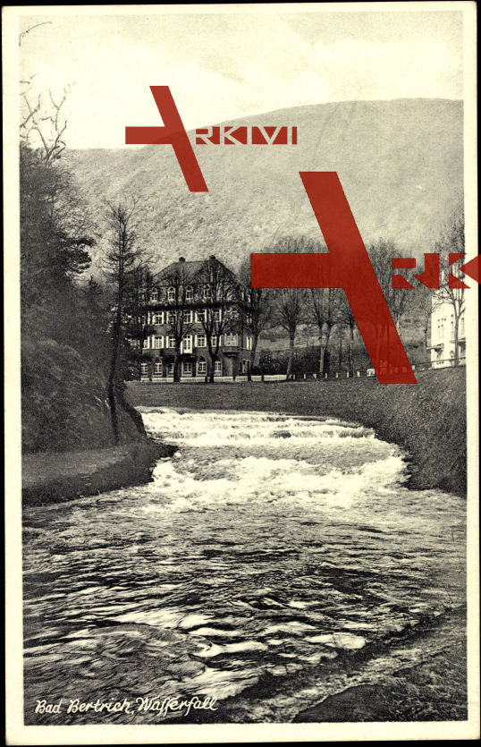 Bad Bertrich, Wohnhäuser am Wasserfall, Fluss