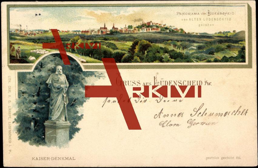 Lüdenscheid, Kaiser Wilhelm Denkmal, Panorama