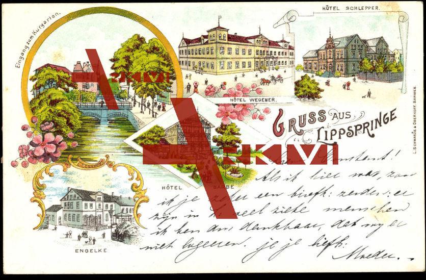 Bad Lippspringe,Hotel Garbe,Engelke,Hotel Wegener